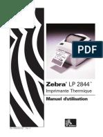 Zebra LP2844 Manuel