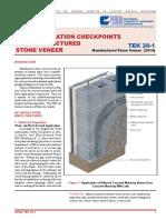 TEK 20-01 Key Installation Checkpoints for MSV; 2014