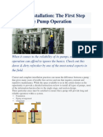 Correct Pump Installation