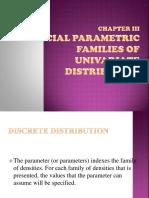 special parametric families of univar. distribution