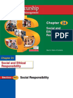Entrepreneurs Social Responsibility