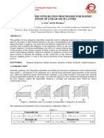 ACCURACY OF TIME INTEGRATION PROCEDURES FOR SEISMIC RESPONSE OF LINEAR OSCILLATOR
