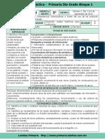 1. Plan 5to Grado - Bloque 1 Español