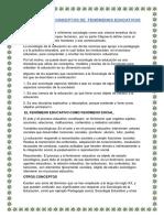 Sociología y Conceptos de Fenómenos Educativos