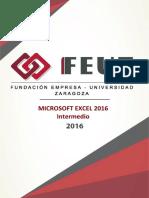 Microsoft Excel 2016 Intermedio