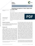 Undergraduate Perceptions of Value Degree Skills and Career Skills