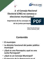 Importancia de los concejos municipales y de las juntas parroquiales