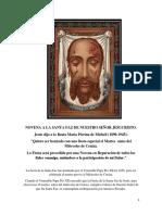Novena a La Santa Faz de Nuestro Se or Jesucristo.