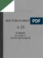 Audio en Techniek - Bouwbeschrijving a-25 - Hybide Klasse a Eindversterker