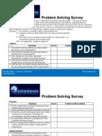Problem Solving Survey