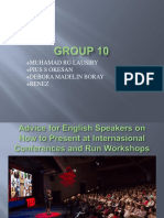 Advice for English Speakers on How to Present