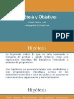 3. Hipótesis y Objetivos (1)