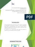 Portafolio Sobre La Administración y Uso de Recursos Tecnológicos.