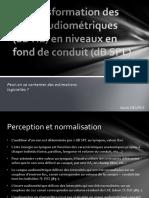 Transformation Des Données Audiométriques en DB HL à DB SPL Tympan2