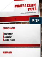 HOW TO WRITE A CRITIC PAPER.pptx