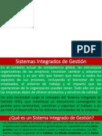 1 Presentación1 Sistemas Integrados de Gestion