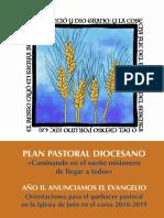 Plan Pastoral 2018-2019 Año de La Evangelización