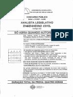 Analista Legislativo Engenheiro Civil Codigo 222 1a Etapa Objetiva