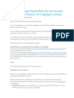 How an Elephant Named Butterfly Can Insanely Enhance Your Memory for Language Learning