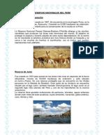 Reservas Nacionales Del Perú