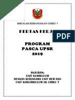 Kertas Kerja Program Pasca UPSR 2019