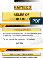 EXAMPLES of PRobability Using the Rules