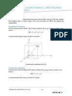 M2 Systemes de Coordonnees Cartesiennes Et Cylindriques