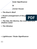 Symbolism in the Novelto the Lighthouse by Viriginia Woolf