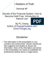 Financial Secrets Are Debt Free - Seminar 1 - Introduction to Natural Law