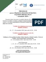 Program Depunere Dosare Grade - Oct 2019