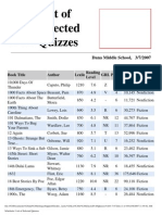 Staff Documents -Scholastic Reading Counts -  List of Books