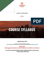 2018 - Course Syllabus SuperLearner V2.0 Skillshare.pdf