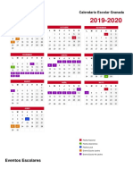 Calendario Escolar Portrait Granada 2019