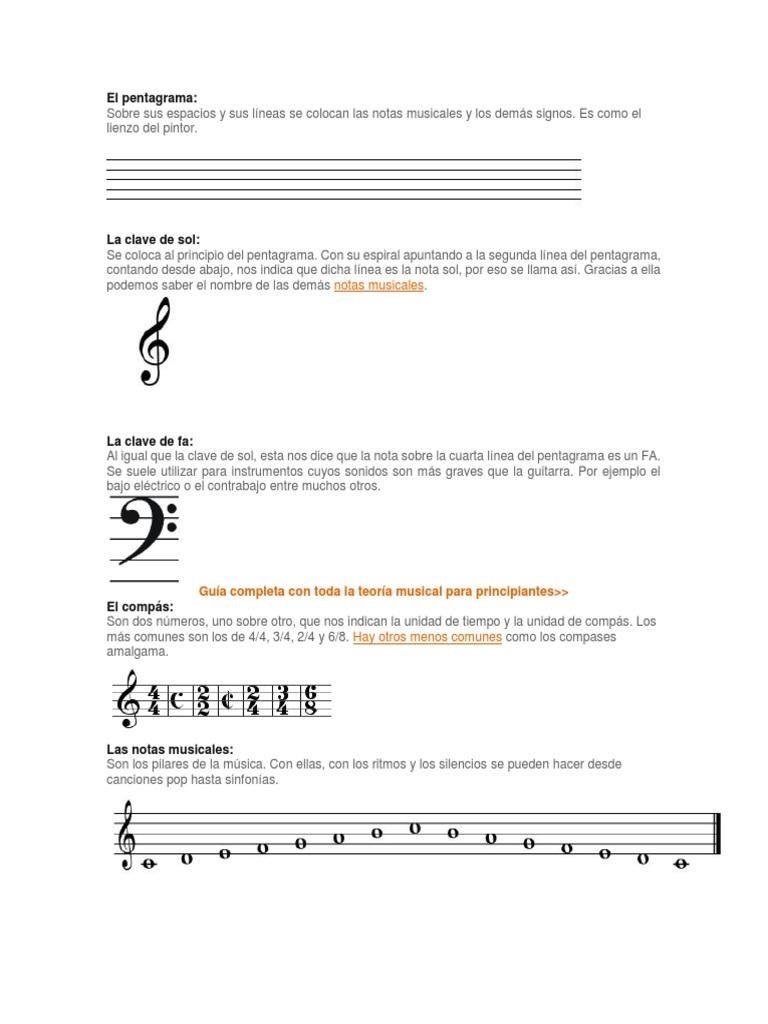 Simbolos Musicales | Notación musical | Composiciones musicales