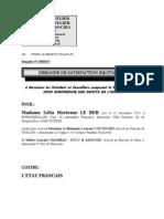 ECHR : Case Le Ber v. France : observation Art.41 applicant