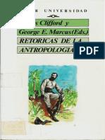 Retóricas de la Antropología - James Clifford, George A. Marcus