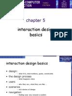 5 - Interaction Design Basics