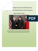 Thayer Recent Developments in the South China Sea