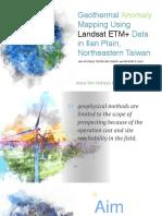 Landsat 7 ETM+ on geothermal exploration