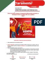 Condiciones Portaciones Chip Prepago 2019