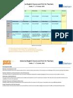 Timetable 1st Week