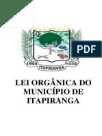 Lei Orgânica do Município de Itapiranga