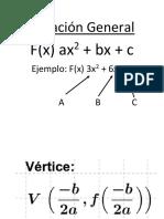 Formulas Parabolas