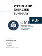 Protein and exercice - Summary.pdf
