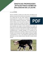 Caracteristicas de La Leche
