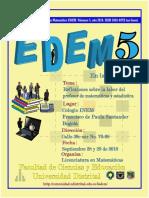 Memorias Quinto Encuentro Distrital de Educación Matemática