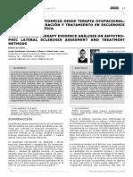 Análisis de La Evidencia Desde Terapia Ocupacional, Métodos de Valoración y Tratamiento en Esclerosis Lateral Amiotrófica (2014)