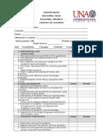 General Class Evaluation Checklist