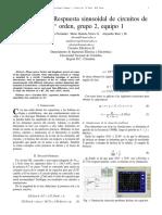 Respuesta sinusoidal de circuitos de 1° y de 2° orden