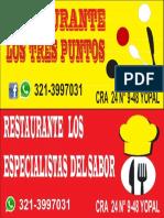 Aviso de Restaurante